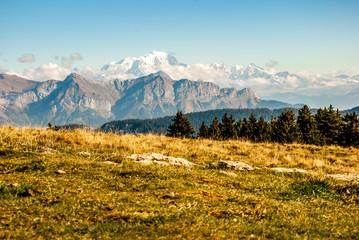Le Mont Blanc vu du Semnoz