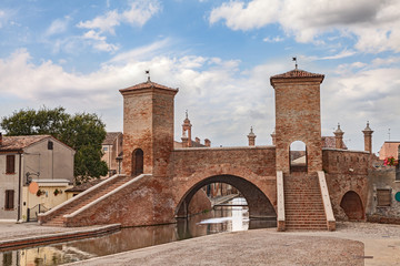 ancent bridge in Comacchio, Italy