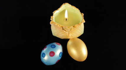 Easter eggs, candle