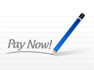 pay now message illustration design