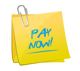 pay now memo post illustration design