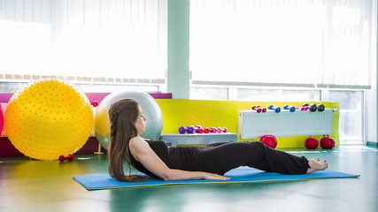 Young Girl Doing Relaxation exercise