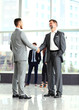 Business handshake. business men closing a deal at the office