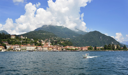A Boat at Como Lake in Italy