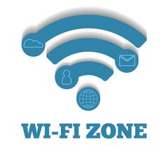 Icon WIFI zone, free wi-fi