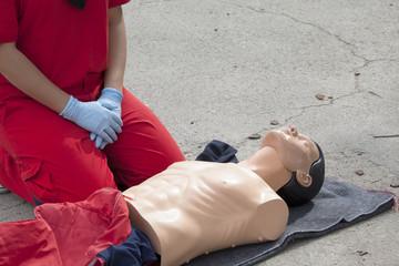 First aid training detail