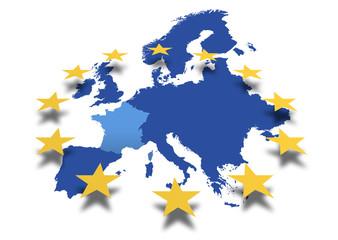 Landkarte *** Europa Frankreich