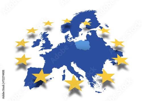 Landkarte *** Europa Polen