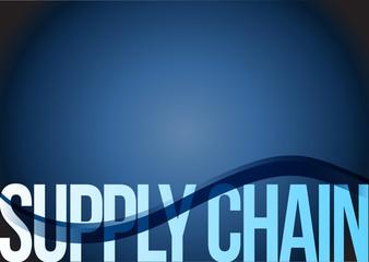supply chain text illustration design