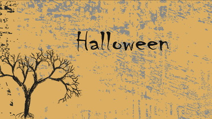 Halloween illustration animated.