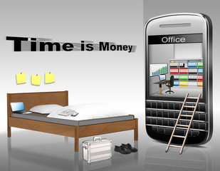 Time is Money, business Konzept