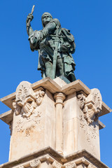 Monument to Admiral Roger de Lluria in Tarragona