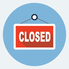 Vector closed sign