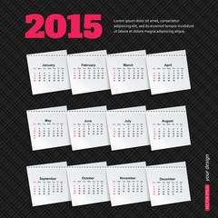 Calendar template brochure business design. Vector illustration.