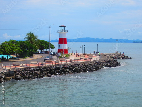 Fotobehang Vuurtoren / Mill Costa Rica - Phare de Puntarenas Port de Puntarenas