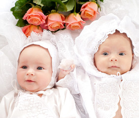 two beautiful baby