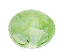 White cabbage isolated on white background