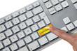 clavier français touche dorée cadeaux doigt kazy