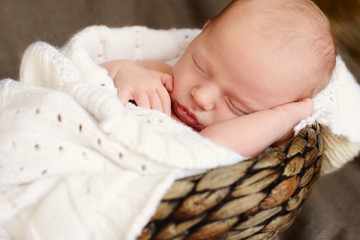 sleeping sweet newborn