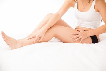 Sexy smooth female legs
