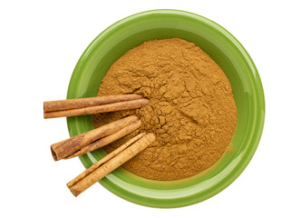 cinnamon (cassia)  powder and sticks