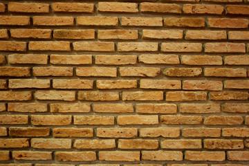 Old brown brick wall.