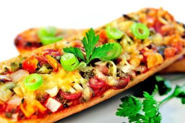 Bruschette with salami