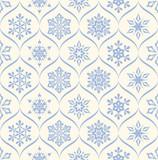 Fototapety Snowflakes Seamless Pattern
