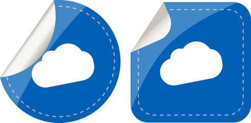 Premium collection of stickers set and abstract cloud