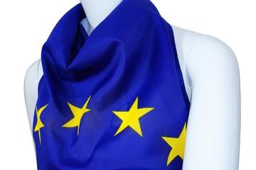 EU Einheits Kleidung an Schaufenster Puppe, Union Kleid, weiss