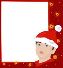 Christmas frame with gnome