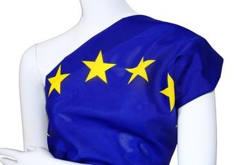 EU Einheits Kleidung an Schaufenster Puppe, Union Kleid, weis