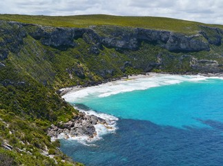 The sand beach bay in flinders chase on Kangaroo island
