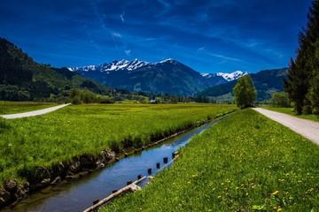 Wanderwege bei Zell am See an den Alpen