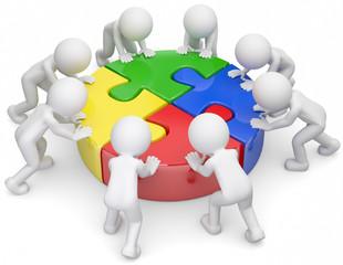 Gruppendynamik Teamgeist weiss