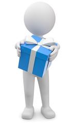 Männchen mit Geschenk