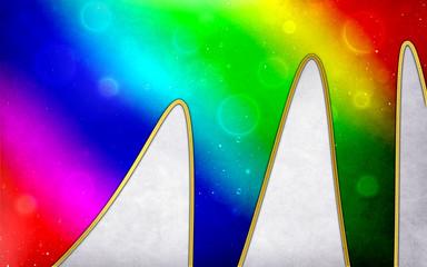 mountain of rainbow