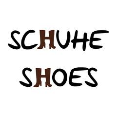 schrift schuhe shoes I