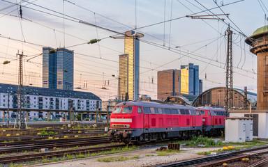 Diesel locomotives in Frankfurt (Main) Hauptbahnhof station