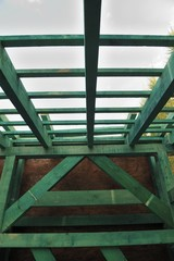 roof, wood, construction, traditional, natural, skeleton,
