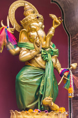Golden statue of Ganesha