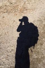 登山者の影