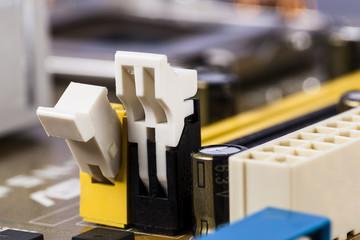 Motherboard RAM socket.