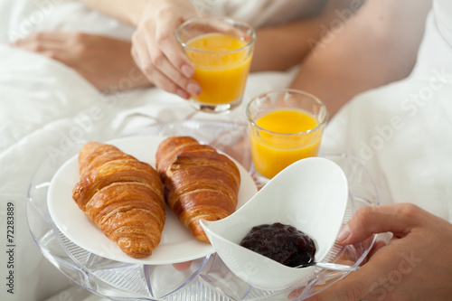 canvas print picture Breakfast in bed