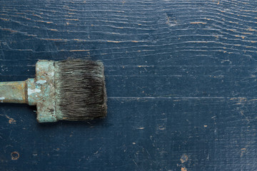 old brush on the table