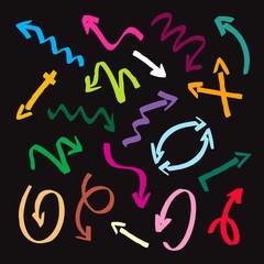 color vector marker arrows