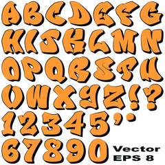 Graffiti Letters and Numbers
