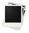 polaroid photo frames stack isolated