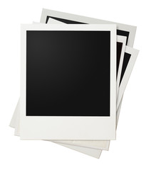 polaroid photo frames stack isolated