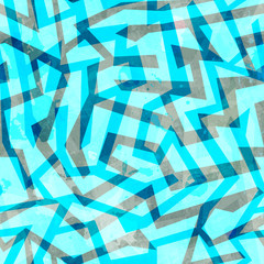 abstract blue maze seamless texture with grunge effect